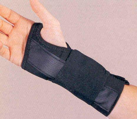 Wrist brace with splint